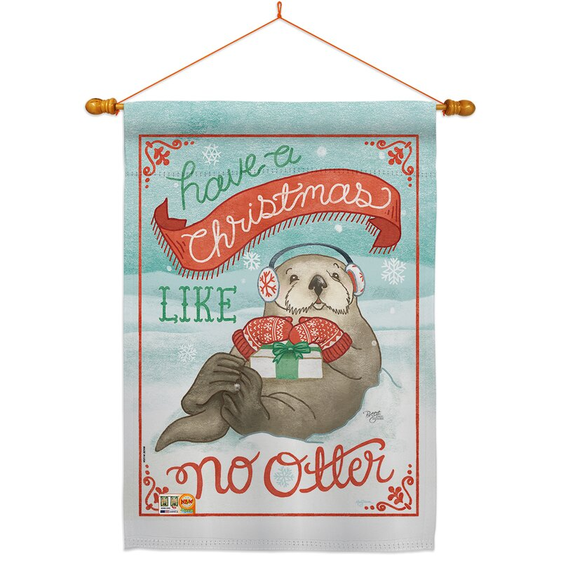 Breeze Decor Christmas Like No Otter 2 Sided Polyester 40 X 28 In Flag Set Wayfair