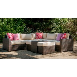 Warsaw 6 Piece Sectional Seating Group with Cushions