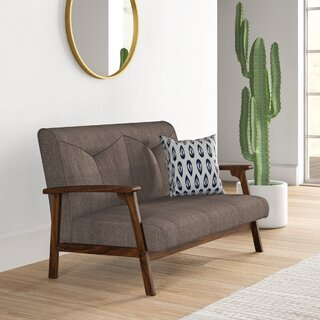 Alijah Mid Century Vintage Modular Loveseat by Mistana SKU:AC825435 Description