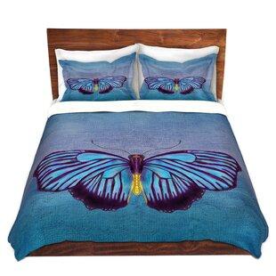 Red Barrel Studio Matsuda Catherine Holcombe Butterfly Blues Microfiber Duvet Covers