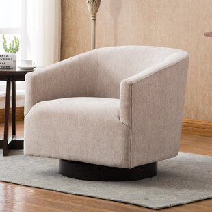 Alvis Swivel Barrel Chair by Ivy Bronx