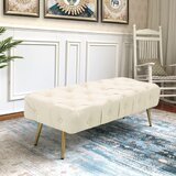 Pifer 39'' Tufted Rectangle Standard Ottoman by Mercer41
