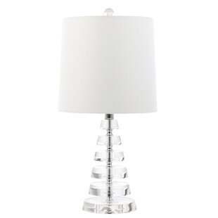 Dowland Flat Stacked Crystal Disc 19 Table Lamp