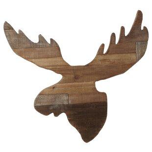 Slat Moose Head Wall Decor