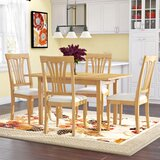 Antonio 5 - Piece Butterfly Leaf Rubberwood Solid Wood Dining Set by Andover Mills™