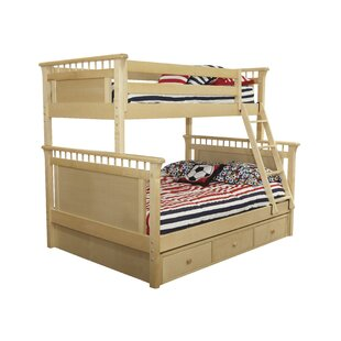 Affordable Price Bonneau Bunk Twin Over Twin Bed with Under Bed ByHarriet Bee