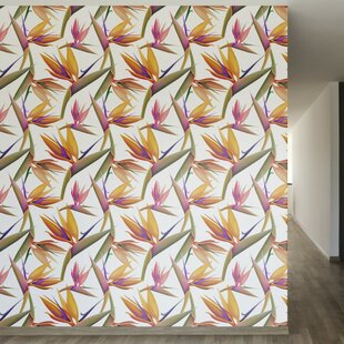 Bird Of Paradise Removable 8 X 20 Floral Wallpaper