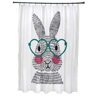 Nona What's Up Bunny? Single Shower Curtain