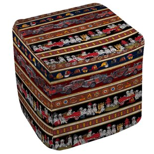 Fire House Stripe Pouf by Manu..