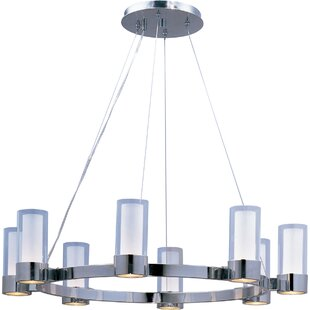 Hamilton 8-Light Wagon Wheel Chandelier by Orren Ellis