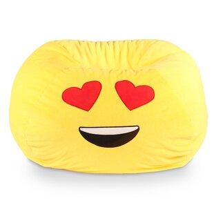 GoMoji Emoji Heart Eyes Bean Bag Chair by Ace Casual Furniture™ Discount