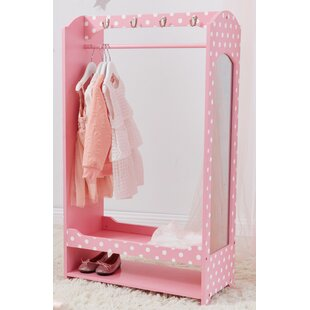 Great Price Fashion Polka Dot Prints Bella Toy Dress Up Unit Armoire by Teamson Kids Reviews (2019) & Buyer's Guide