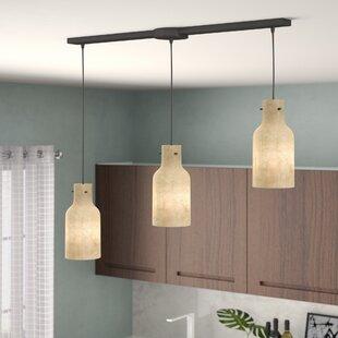 Burkhead Linear Bar 3-Light Cluster Pendant by Brayden Studio