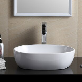 Fine Fixtures Modern Vitreous China Oval Vessel Bathroom Sink
