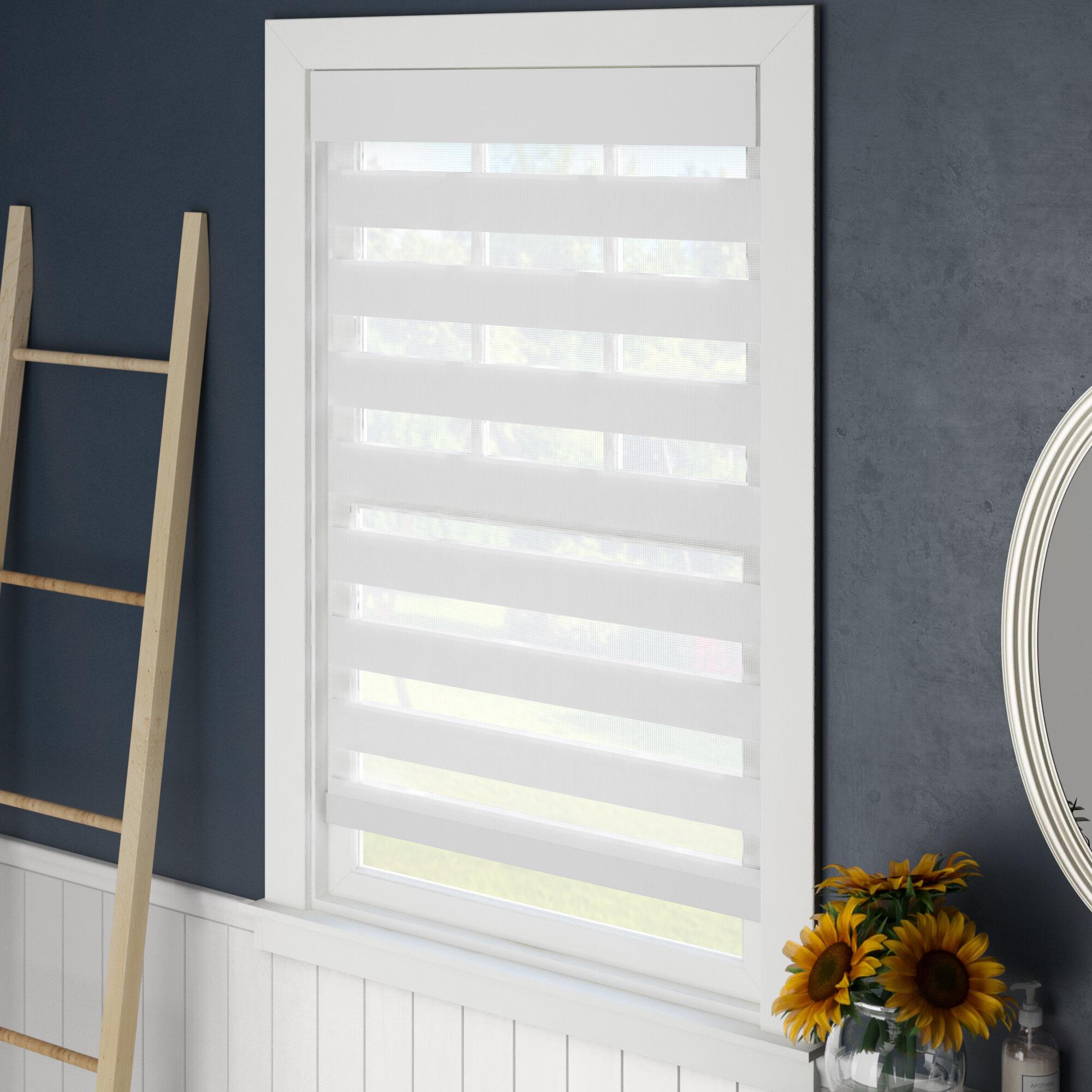 Amancer Simple Elegance Light Filtering Blind with Slats