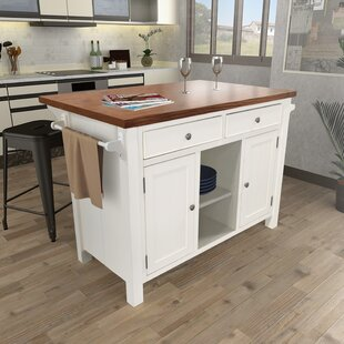 Hearn Extended Counter Kitchen Island Gracie Oaks