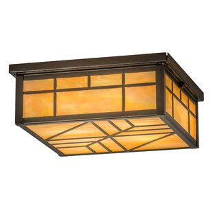 Loon Peak Angelia Square 4-Light Flush Mount
