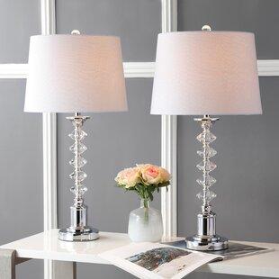 House of Hampton Larkins 2 Piece Table and Floor Lamp Set (Set of 2)