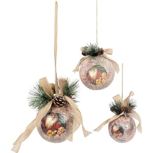 nara christmas bauble set - Large Red Christmas Decorations