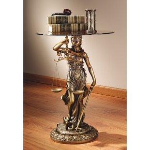 Blind Justice Sculptural End Table by Des..
