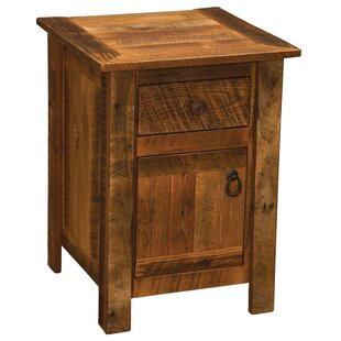 Fireside Lodge Barnwood 1 Drawer Nightstand