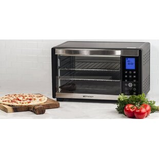 1 Cu. Ft 6 Slice Convection and Rotisserie Digital Panel Countertop Toaster Oven