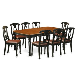 Pimentel 9 Piece Solid Wood Dining Set August Grove