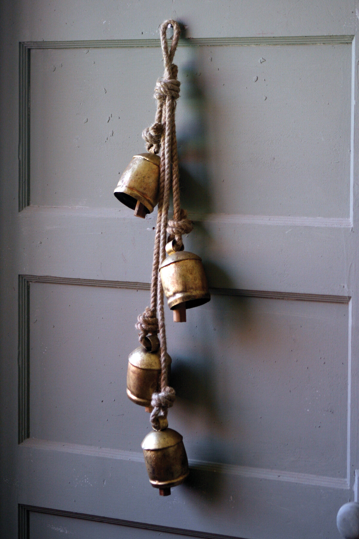 4 Piece Rustic Iron Hanging Bells With Rope Wall Décor Set Reviews Birch Lane
