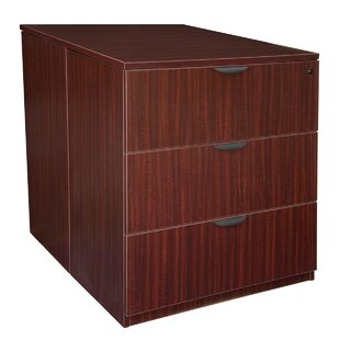 Latitude Run Linh Contemporary Stand Up Back to Back 3-Drawer Lateral Filing Cabinet