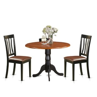 3 Piece Extendable Dining Set East West Furniture