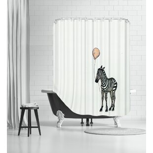 Nursery Zebra Single Shower Curtain