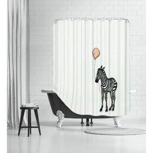 Nursery Zebra Single Shower Curtain