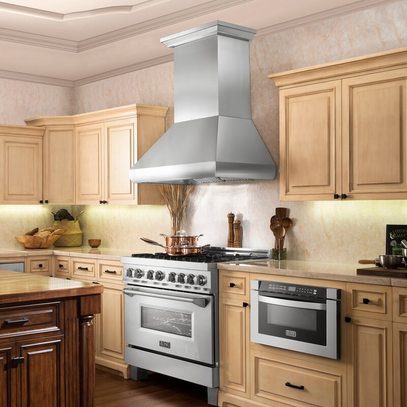 Zline Kitchen And Bath 30 Professional Stainless 1200 Cfm Ducted Wall Mount Range Hood Reviews Wayfair