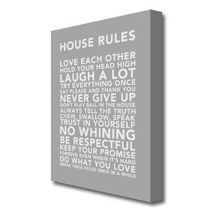 House Rules Canvas | Wayfair co uk