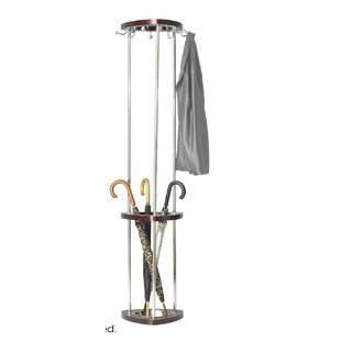 Mode Wood Coat Rack with Umbrella Rack by Safco Products Company