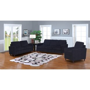 Amall 3 Piece Living Room Set by Ebern Designs