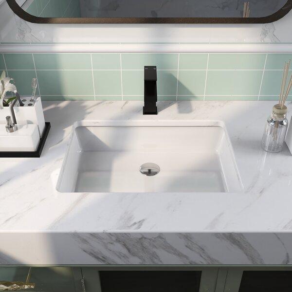 Deervalley White Vitreous China Rectangular Undermount Bathroom Sink With Overflow Reviews Wayfair