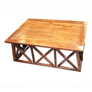 Mathewson Wooden Coffee Table with Tray Top by Loon Peak