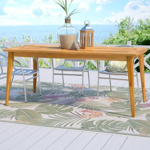 Beachcrest Home Telma Teak Dining Table