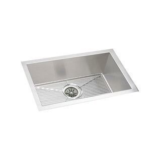 Crosstown 24 L x 18 W Undermount Kitchen Sink with Sink Grid and Drain Assembly by Elkay