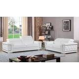 Nicolette Luxury Italian Leather 2 Piece Living Room Set (Set of 2) by Orren Ellis