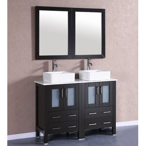 48″ Double Vanity Set with Mirror