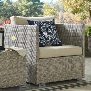 Heiner Patio Chair with Sunbrella Cushion by Highland Dunes