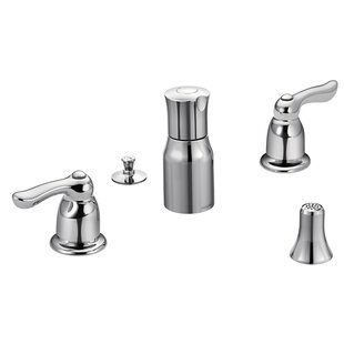 Moen Chateau Double Handle Widespread Vertical Spray Bidet Faucet