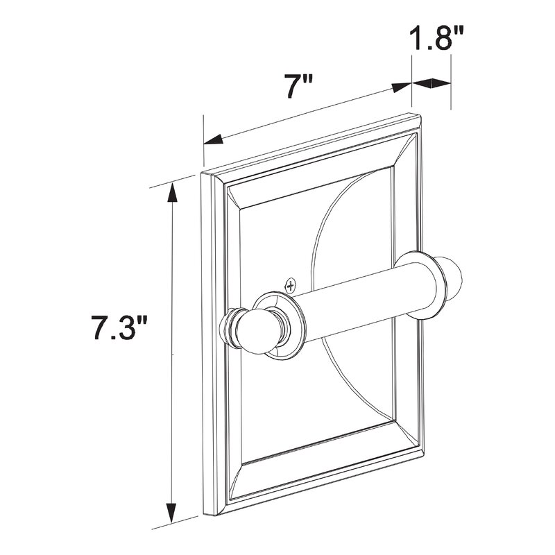 Recessed Toilet Paper Holder Polished Chrome Wall Mounted Tissue Bracket Br