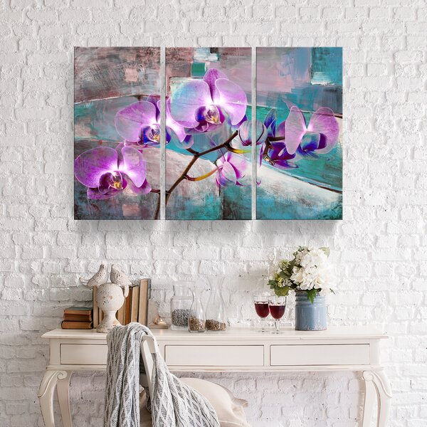 'Painted Petals XIX' 3 Piece Psychedelic Wall Decorations