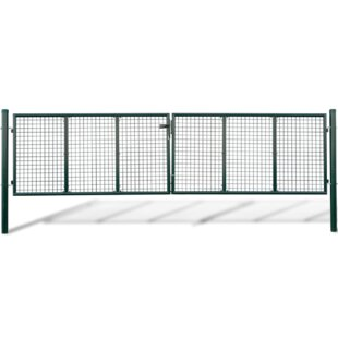 14' X 4' (4.2m X 1.3m) Metal Gate By Sol 72 Outdoor