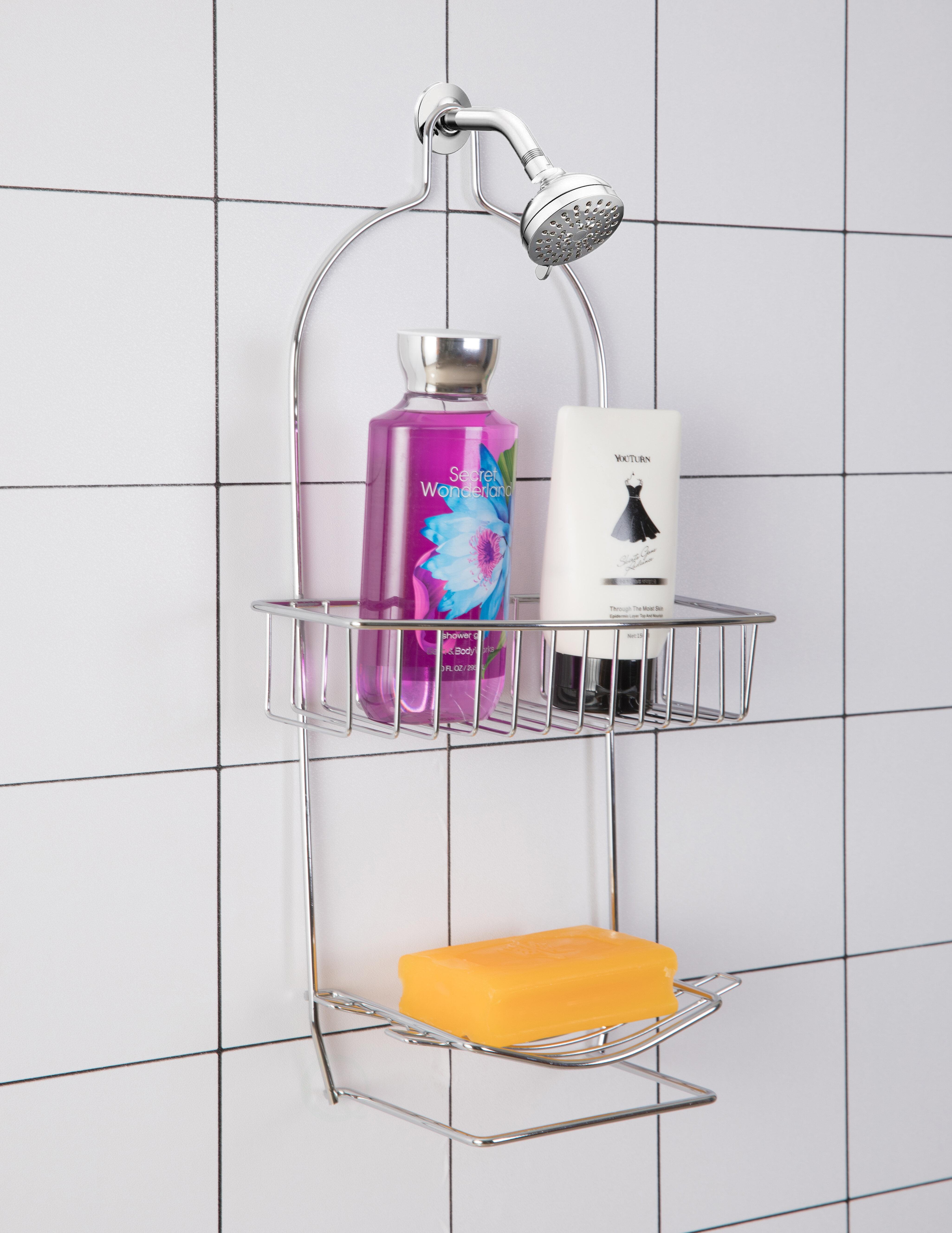 Metal Wire Bathroom Shower Storage Rack