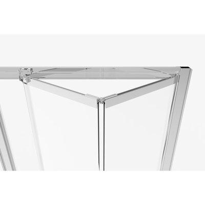 "Basco Infinity Bifold 37"" x 67"" Folding Semi-Frameless Shower Door  Glass Type: Clear, Finish: Chrome"