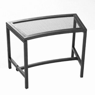 Freeport Park Odalis Mesh Metal Patio Fire Pit Bench